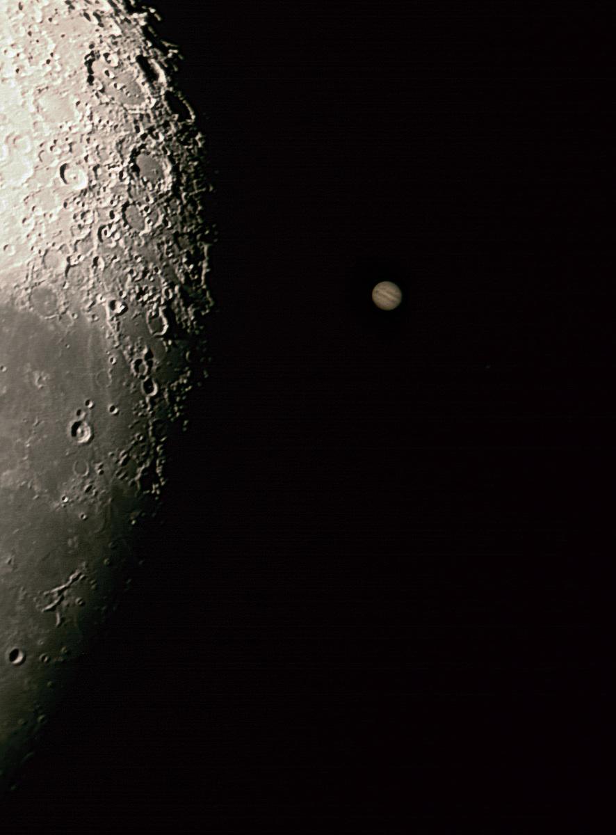 Ocultacion Luna Jupiter