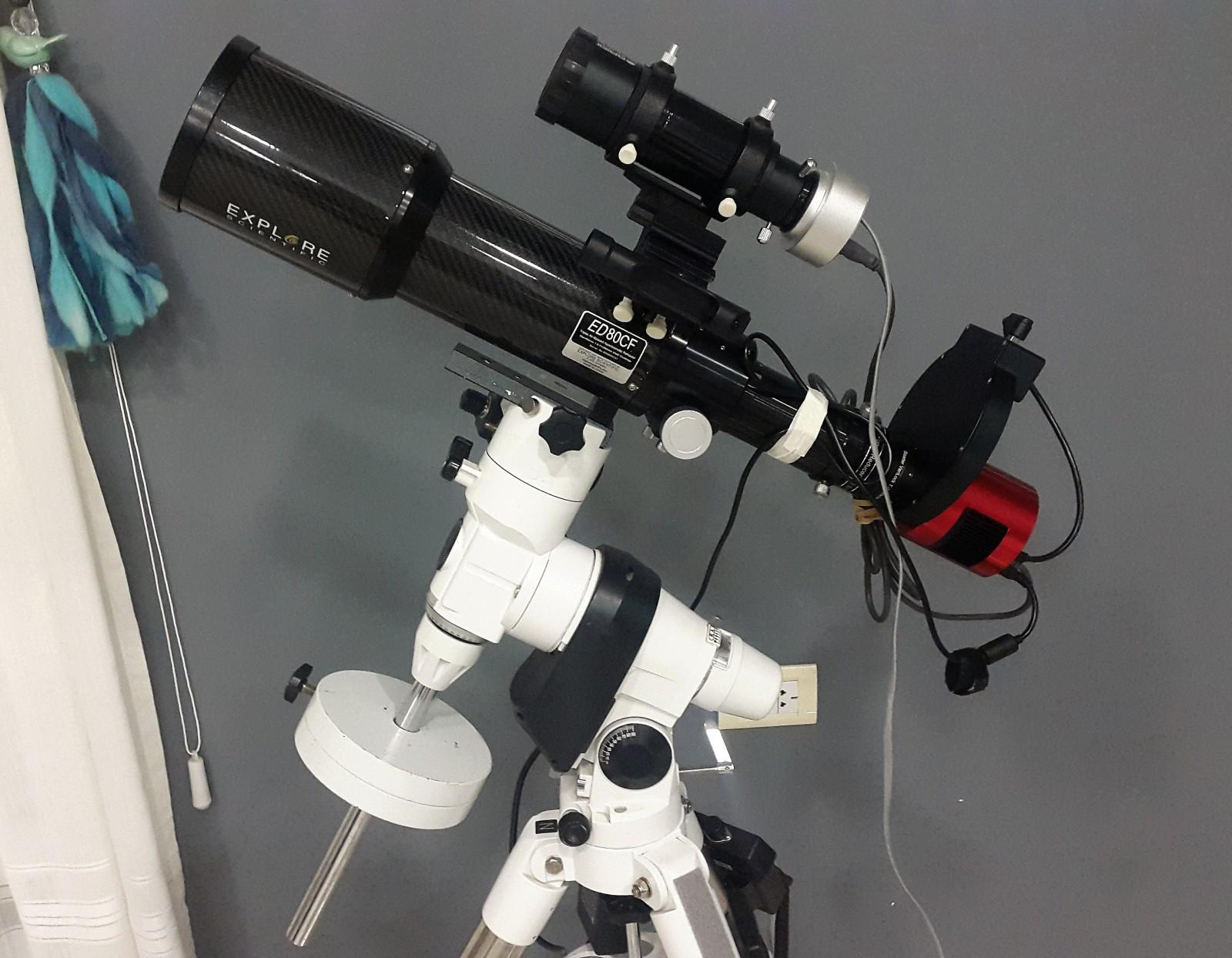 Explore Scientific 80-480, cámara ZWO ASI1600