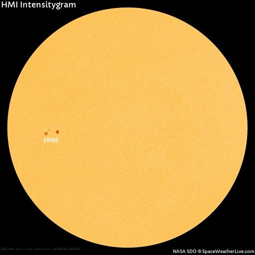 Aviso de manchas solares.