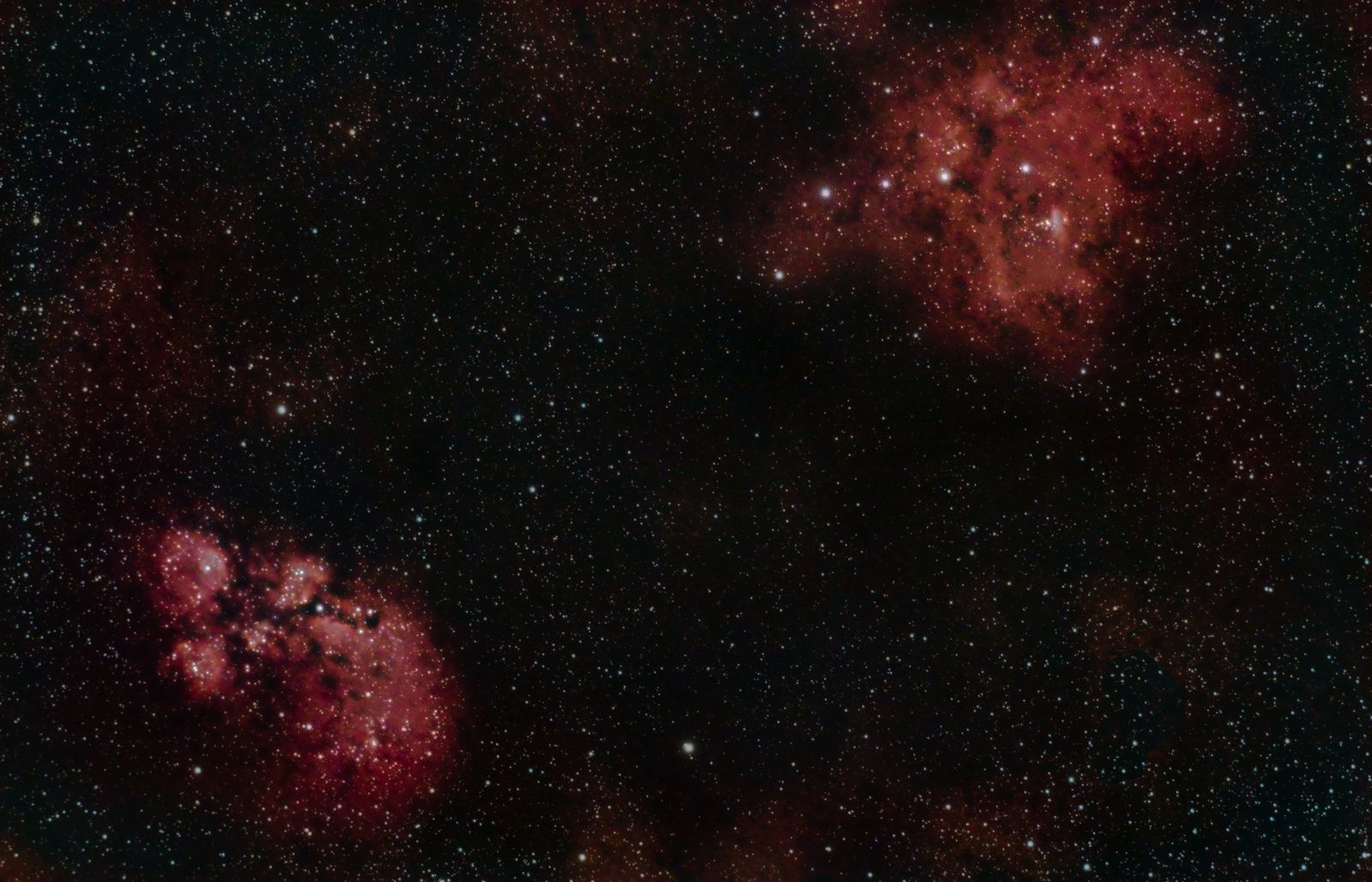 Cat's Paw Nebula & War and Peace Nebula