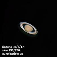 Saturno 30/5/17