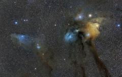 Rho Ophiuchi y Cabeza de Caballo Azul