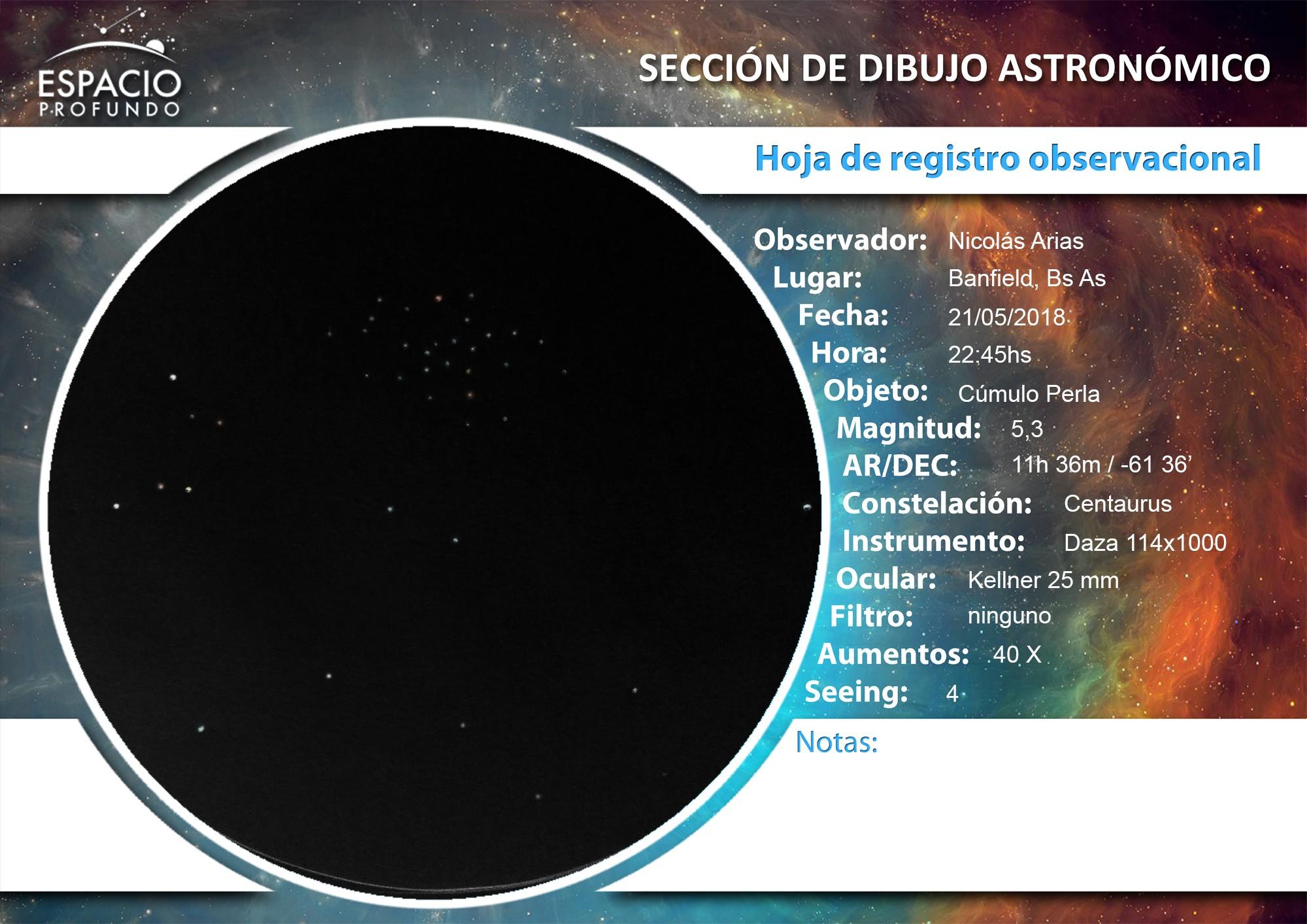 Registro_Observacional 21-5 Cúmulo Perla