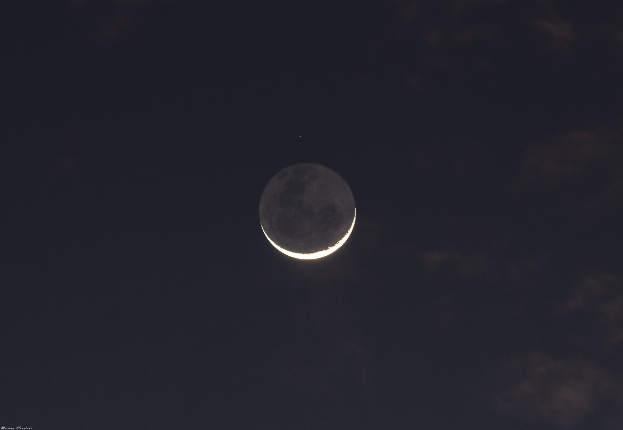 Luna + Nu Piscium
