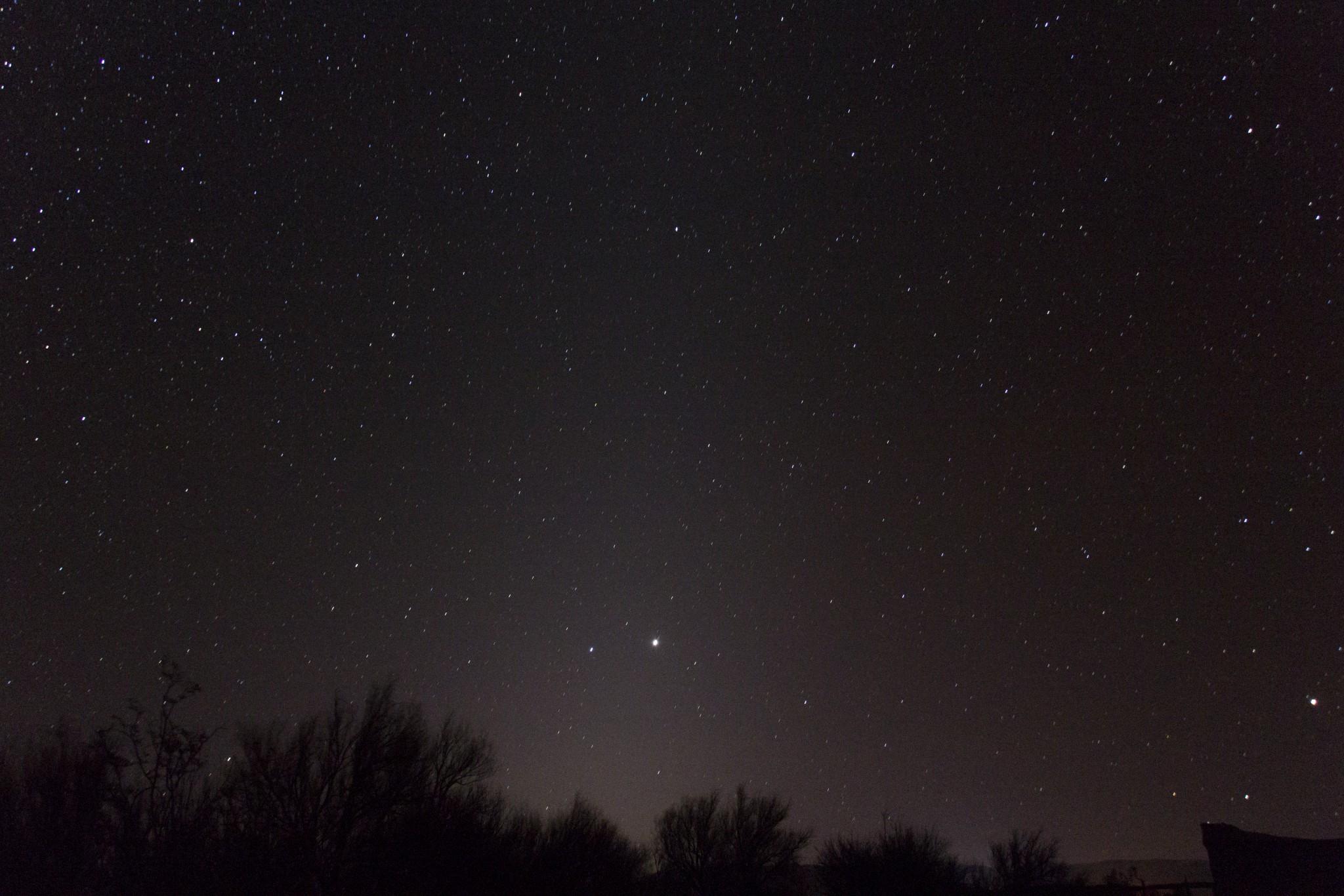 Luz zodiacal + Júpiter